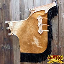 HILASON CHILD PRO RODEO BRONC BULL-RIDING HAIR ON LEATHER CHINKS CHAPS