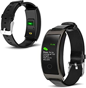 inDigi CX Fitness Activity Tracker & SmartWatch Heart Rate + Blood Pressure + Body Temperature Monitor - Pedometer - Push Notifications (SMS) & Call Alert (IP67 Waterproof)
