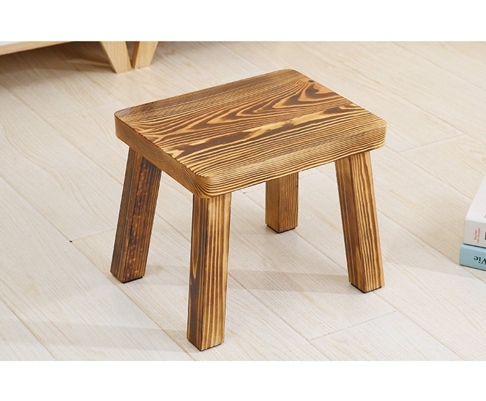 Anti-humpback stool Pine stool Home Solid wood Small stool Bench Simple modern adult coffee table Round stool Change the shoe stool correct sitting posture ( Color : #1 ) HAOJIAHAOYE