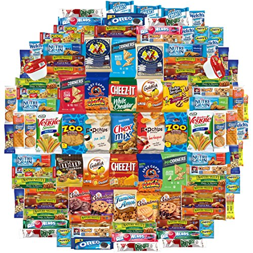 Crunch n Munch Ultimate Care Package Assortment Gift Box (100 (Rare Rice Crackers)