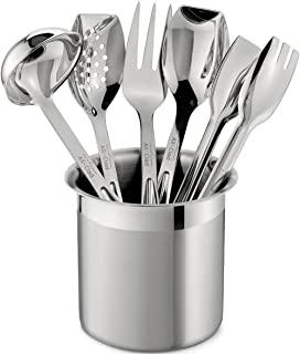 All Clad T236 Stainless Steel Cook And Serve Kitchen Tools Set With Caddy, 6