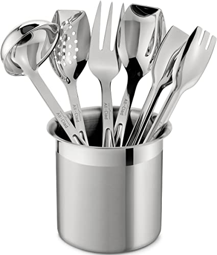 Exceptionnel All Clad T236 Stainless Steel Cook And Serve Kitchen Tools Set With Caddy, 6