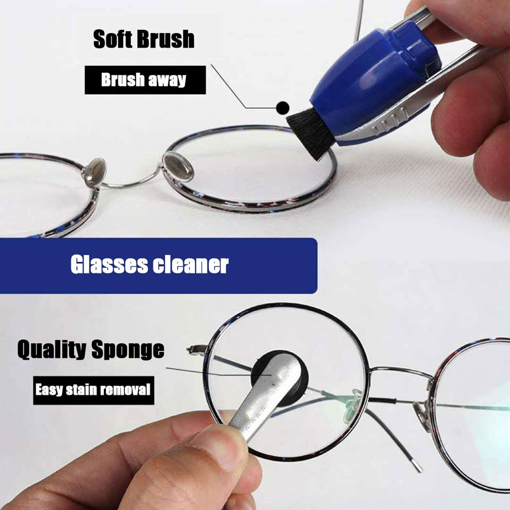 3 Pcs Peeps Eyeglasses Cleaner Eyeglass Spectacles Cleaner Brush Kit,A Cweu-home Portable Cleaner Lunettes Carbon Clean Injected Lunettes Lunettes De Soleil Brush Tools