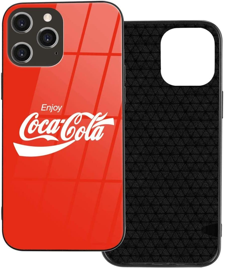 Enjoy Coke I-Phone 12 Mobile Phone Case is Covered with Shock and Scratch Resistance I-Phone 12 Glass Case