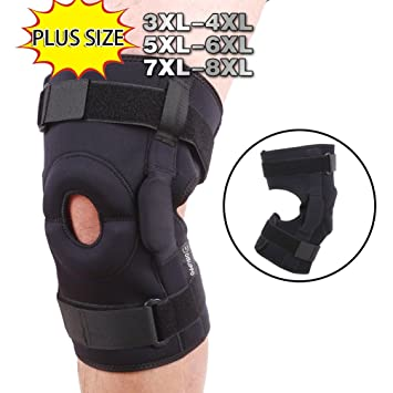 038818d269 Dual Hinged Knee Brace Open Stabilized Patella Adjustable Support for Sports  Trauma, Sprains, Arthritis