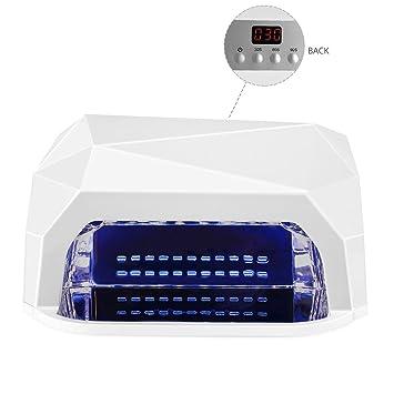 Amazon.com: Lámpara de LED UV Secador de Uñas para Gel y ...