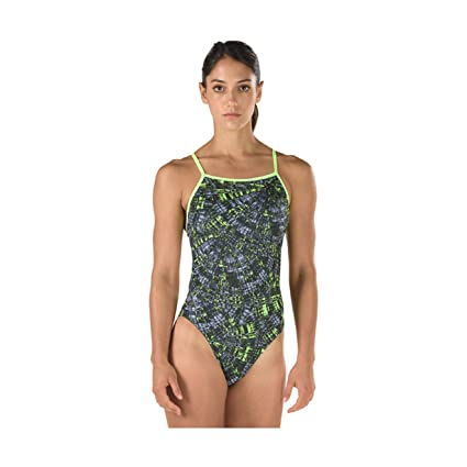 d2c40c0551 Amazon.com : Speedo Women's TURNZ: Printed One Back (Multi ...