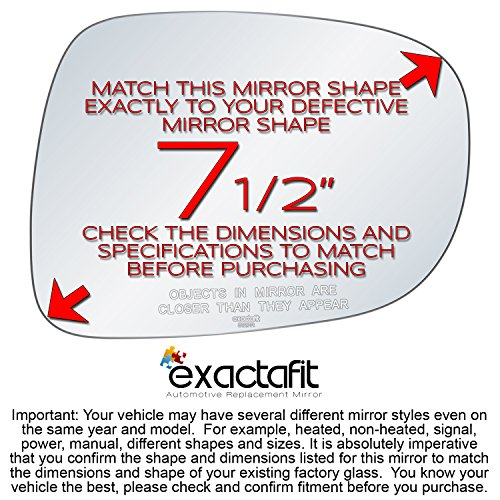 exactafit 8652R Replacement Passenger Right Side Mirror Glass Convex Lens fits 03-06 Ford Expedition 03-06 Lincoln Navigator by Rugged TUFF