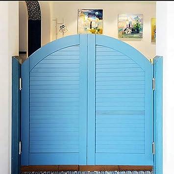 GuoWei Puerta de Vaivén de Madera Maciza Café Bar Jardín Patio Entrada Utilizar Azul Claro, Personalizable (Size : 90cmx90cm): Amazon.es: Bricolaje y herramientas