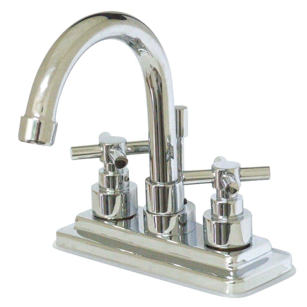 4-7//8-Inch Kingston Brass KS8661EX Elinvar Twin Cross Handle Lavatory Faucet