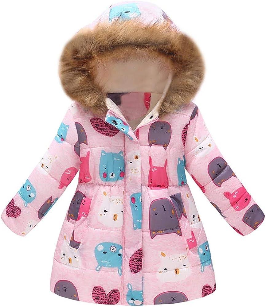 Girls Boy Hooded Windproof Coat Kids Coat Pollyhb Baby Thick Velvet Winter Warm Coat