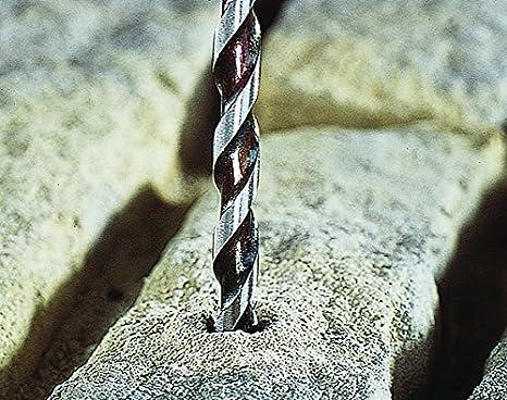 Wolfcraft 7780010 1 Foret /à B/éton Professional Hm-ct /Ø 10 Mm  Longueur de Spirale 70 Mm  Longueur Totale 120 Mm  Angle de Pointe 130/° Din Iso 5468 Spirale Droite