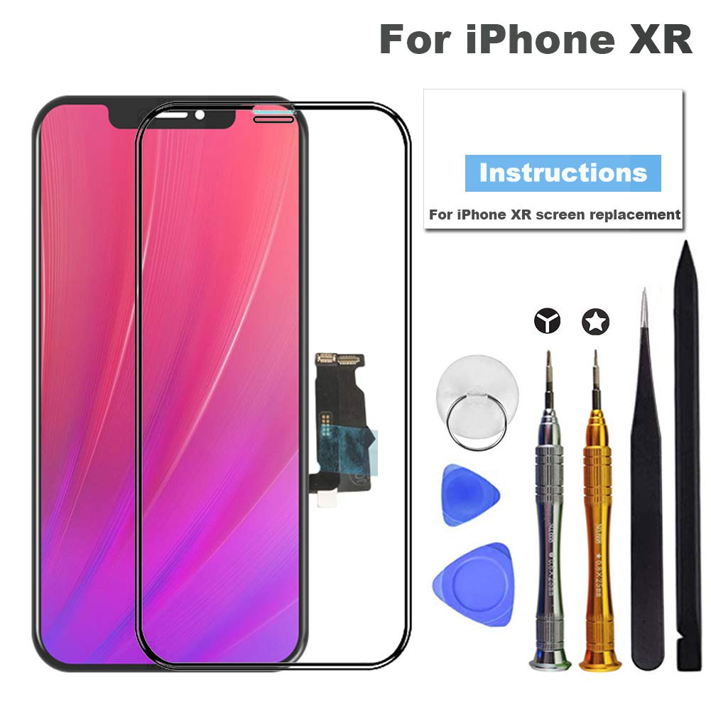 for iPhone XR Screen Replacement, LCD Screen Touch Display Digitizer Repair Kit Assembly (6.1 inch) by Fixerman
