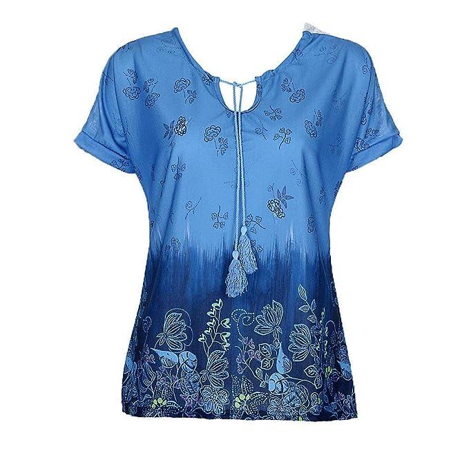 Tops Mujer Verano Elegante Fuera del Hombro Tul Blusas Fashion Vintage Modernas Casual Camisas Hipster Casuales Fuera del Hombro Colores Sólidos Barco ...