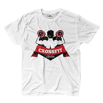 Camiseta camiseta hombre Crossfit Center Gimnasio Sport Entrenamiento 2 kiarenzafd, blanco, Small