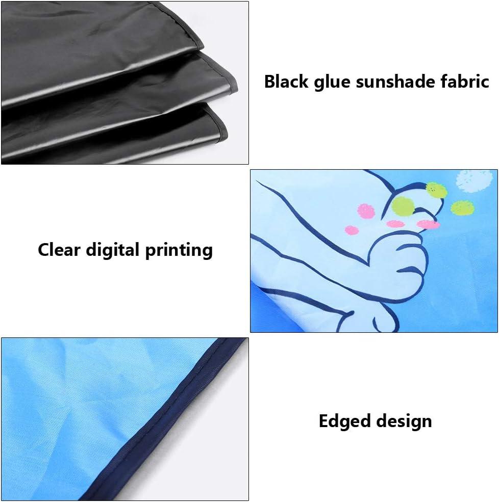 Car Window Curtain Car Sun Shade Anti-UV Cooling Sunshades Cover Sun Visor Magnetic Cartoon 4 Pcs