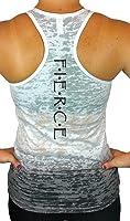 Women's Workout Tank Top - Fierce Ombre Burnout Racerback Fitness Tank Tops