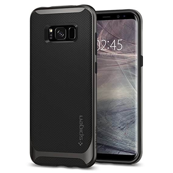 new product a92fe 9f9b9 Spigen Neo Hybrid Designed for Samsung Galaxy S8 Plus Case (2017) - Gunmetal