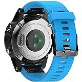 NotoCity Kompatibel mit Garmin Fenix 5S / 5S Plus Armband Easy Fit 20mm Silikon Uhrenarmband Unisex