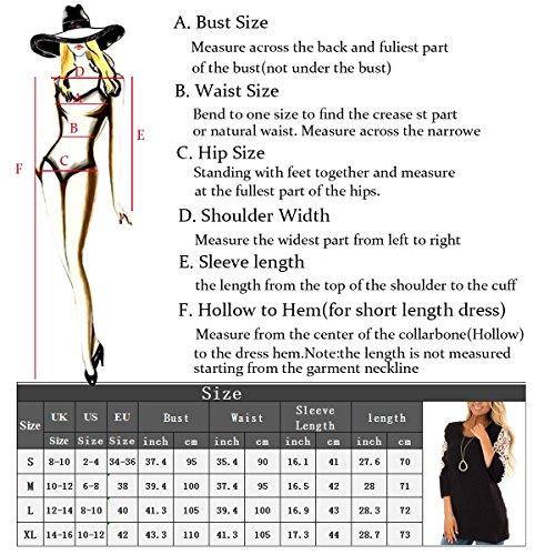 JunJunBag Gris Gris Noir Femme Shirt Haut Dentelle Top Ronde Rouge Taille S T XL Orn Manche avec 4 3 Pois Blouse Tunique Col BBRfqWr1pw