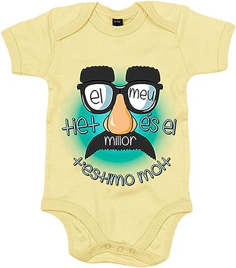 Body bebé El meu tiet és el millor - Amarillo, 6-12 meses: Amazon.es: Bebé