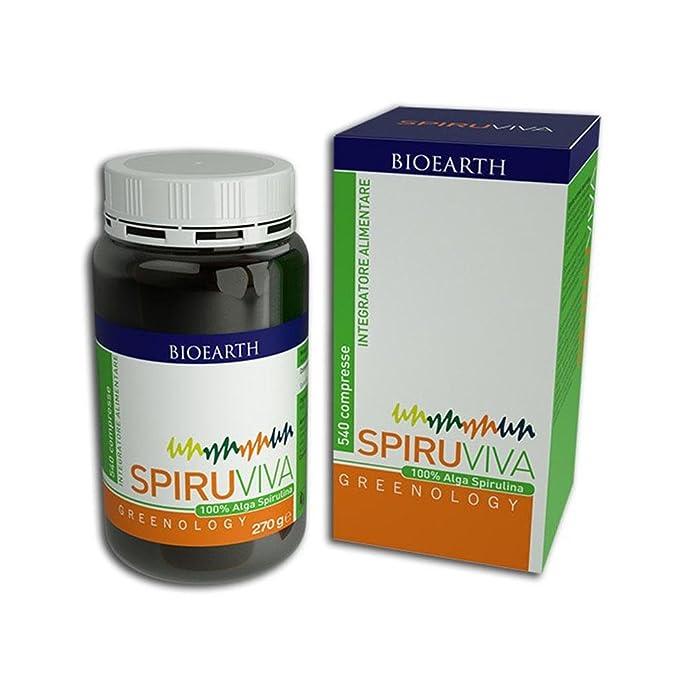 8 opinioni per Alga Spirulina- Spiruviva Bioearth 540 compresse