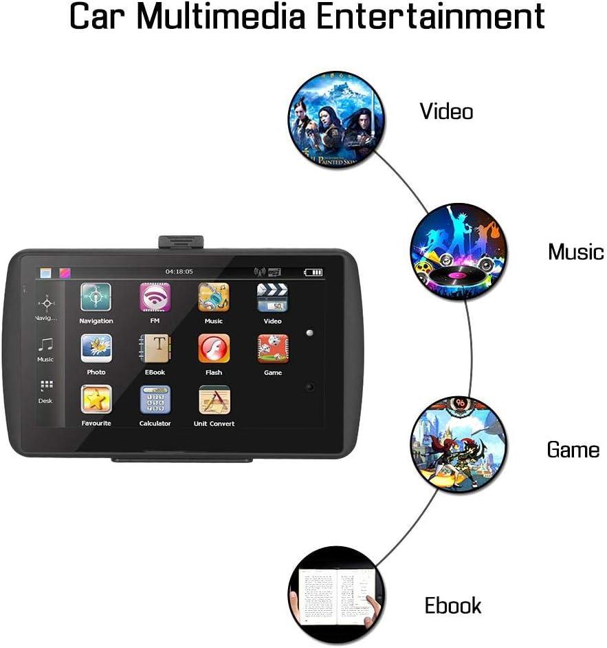 Keenso Syst/ème de Navigation GPS Portable /à Ecran Tactile Universel HD de 7 Pouces pour Camion de Voiture GPS Voiture Navigation