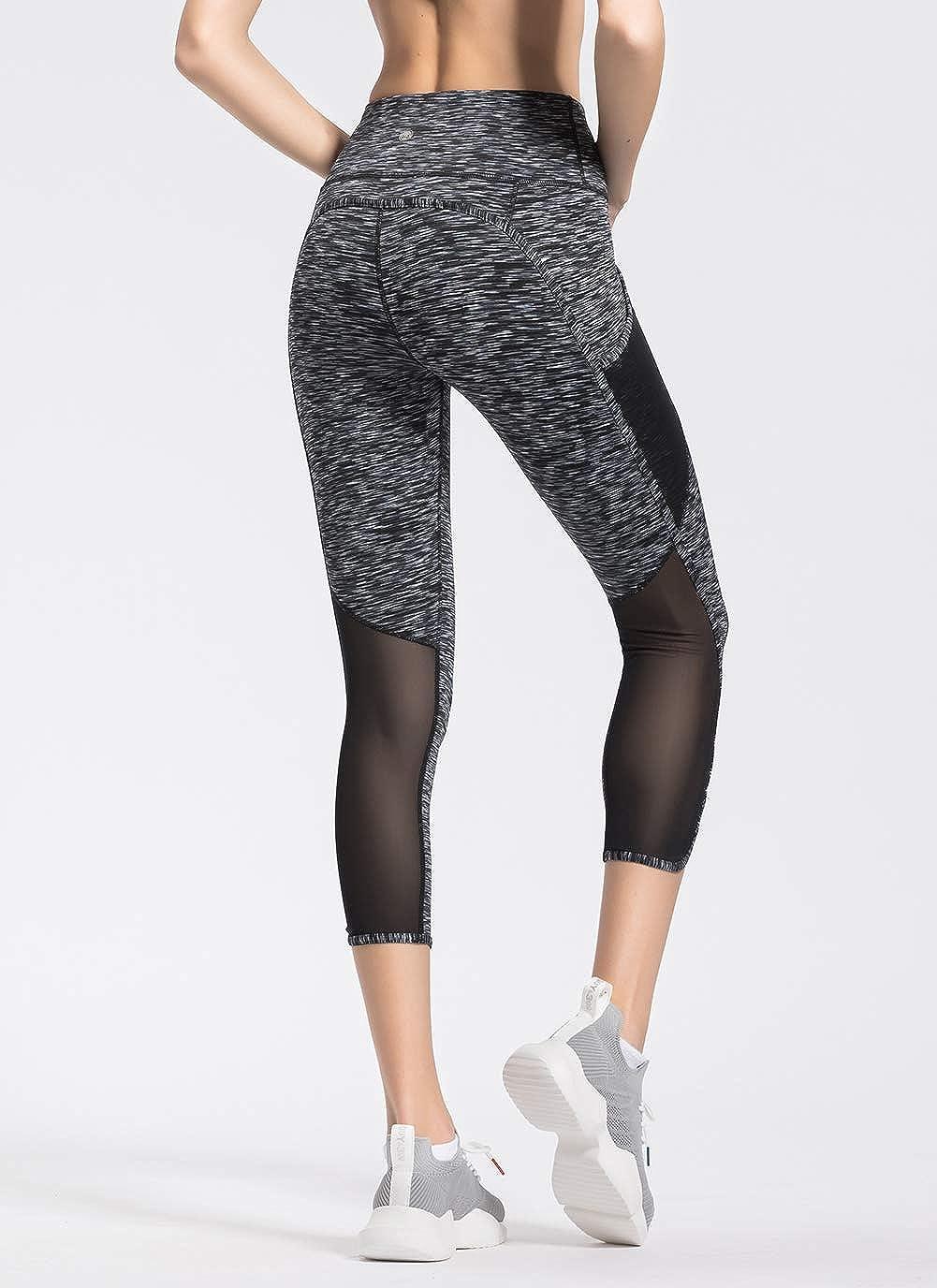 QUEENIEKE Women 22 Yoga Mid-Waist 3 Pocket Running Pants Trousers Workout Tights Legging70910
