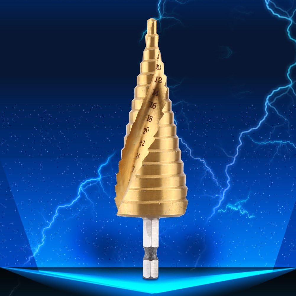 1pc Foret Conique Etag/é Pointe Gradu/é Tige Hexagone 1//4 Acier HSS pour Perceuse Visseuse 4-32mm