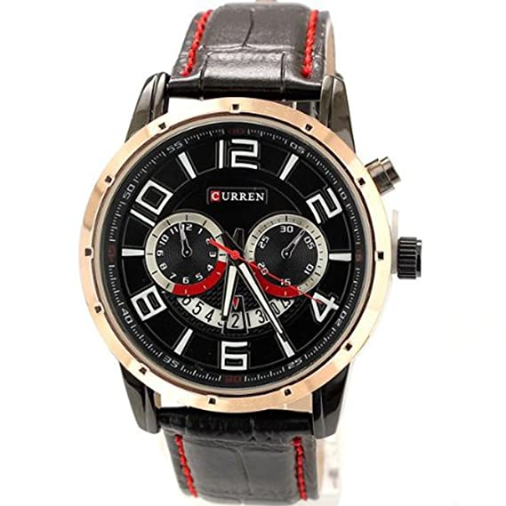 2365ac9a77b7 Reloj Curren para Hombre con Blanco Y Negro W8140  Amazon.es  Relojes