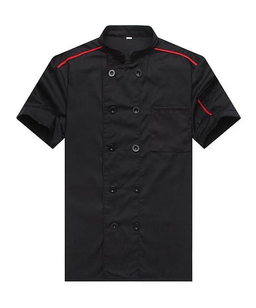 Amazon.com: Chef chaquetas camarero chamarra Manga Corta ...