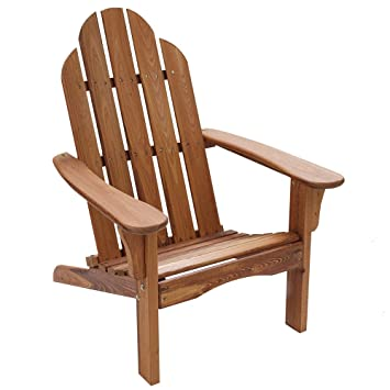 Amazoncom Table in a Bag CNADIR Natural Wood Adirondack Chair