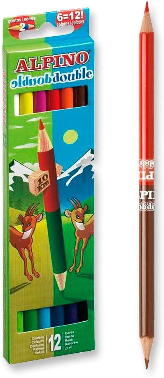 Alpino AL000169 - Estuche 12 lápices con 24 puntas: Amazon.es: Ropa y accesorios