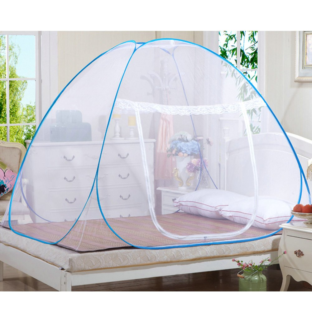 Mosquito Nets, Portable Free Installation and Folding Nets Pop up Tent Mosquito Protection Double Bed,Single Bed Suitable for Adults Children and Babies Prevent Insect Hikers and Campers,Great For Indoor and Outdoor Use (150*200) GRD