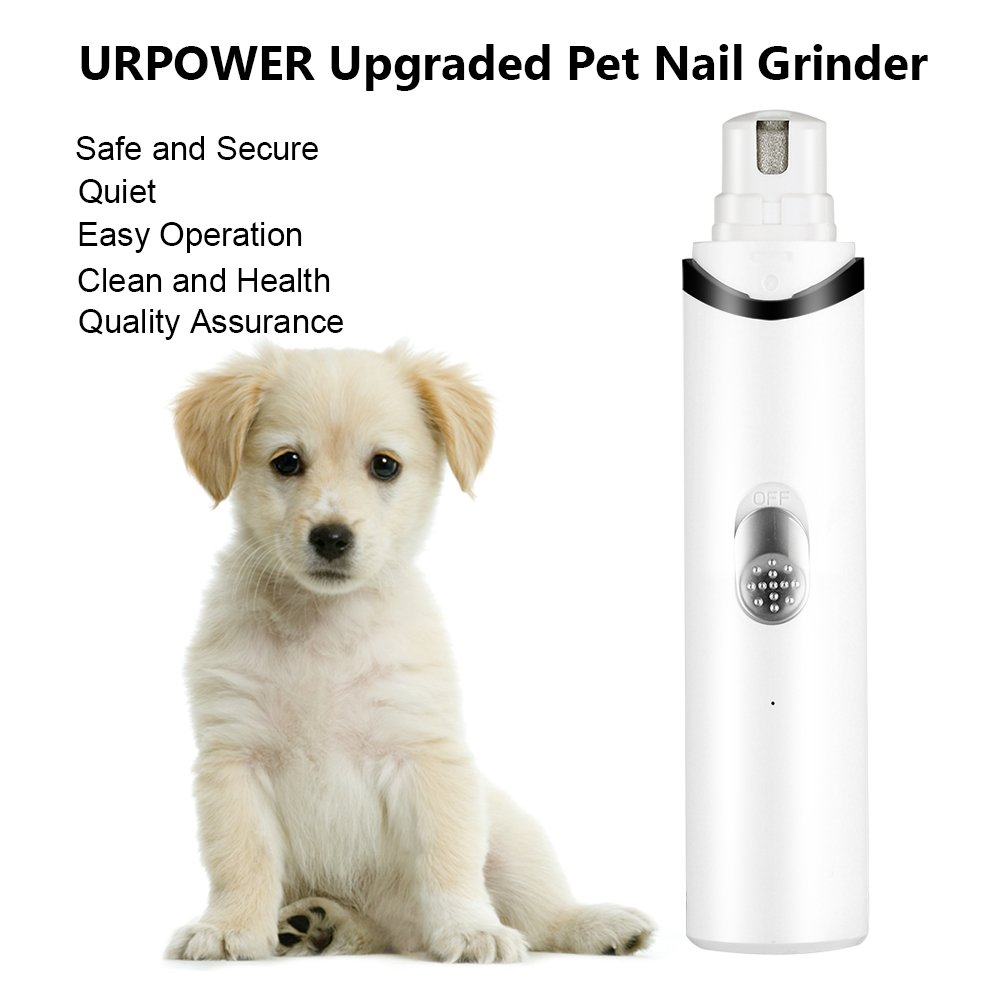 URPOWER Rechargeable Pet Nail Grinder Upgraded Dog Nail Grinder with USB Charging Quite & Powerful Nail Clipper for Gentle Paws Grooming Nail Grinder for Dogs Cats and Other Small & Medium Pets by URPOWER (Image #4)
