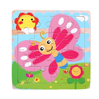 SSDXY Jigsaw Puzzles for Adults Kids, Kids Wooden Various Pattern Early Educational Learning Pegged Puzzles: Clothing