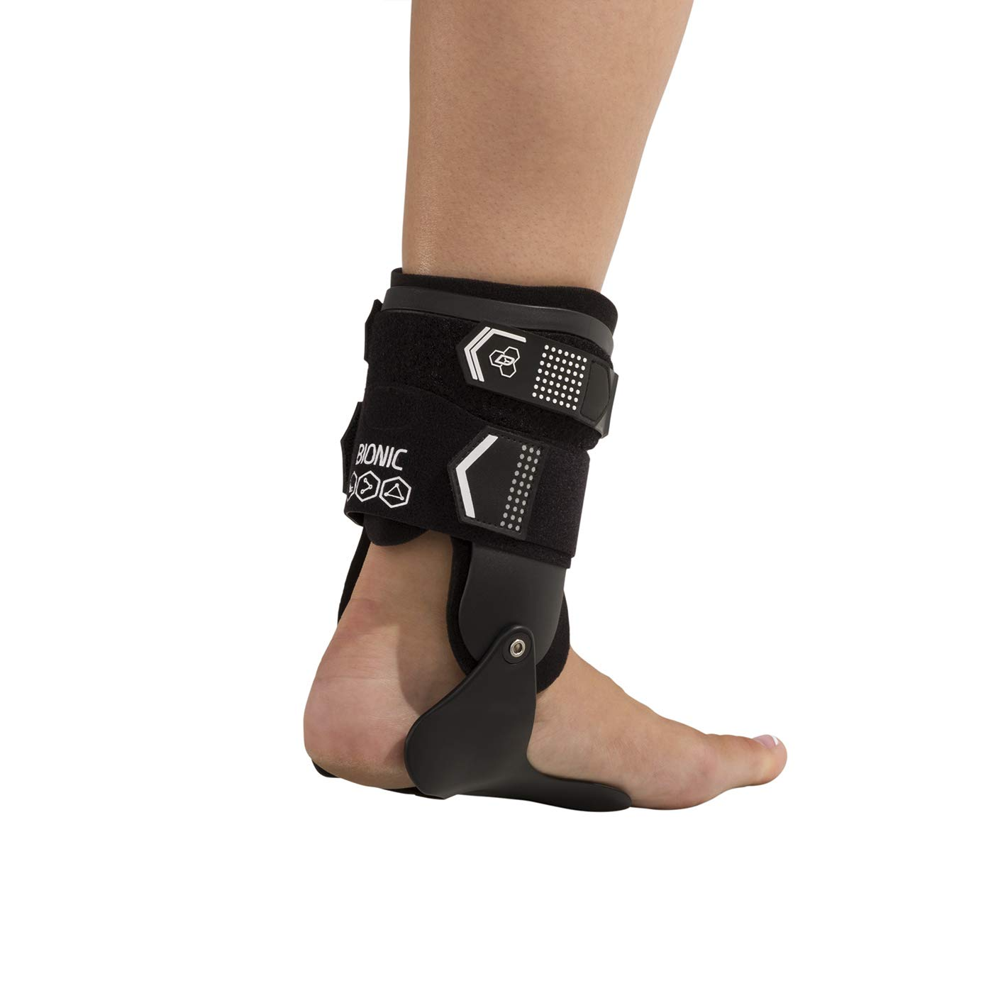 DonJoy Performance Bionic Stirrup Ankle Braces (Right and Left Pair), Maximum Medial Lateral Ankle Support, Low-Profile Rigid Brace, Adjustable - Black, Medium - Value Bundle by DonJoy Performance (Image #9)
