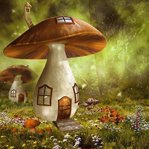 GladsBuy Mushroom House 5 x 7 Digital Printed Photography Backdrop Magic Theme Background YHA-192