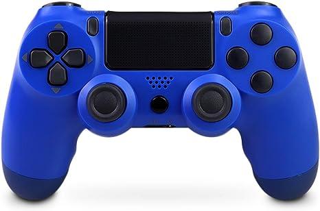 Todo para el streamer: Mando inalámbrico para PS4, Mando Inalámbrico Gamepad Doble Vibración Seis Ejes Mando Game, Compatible con Playstation 4 / PS4 Slim / PS4 Pro(azul)