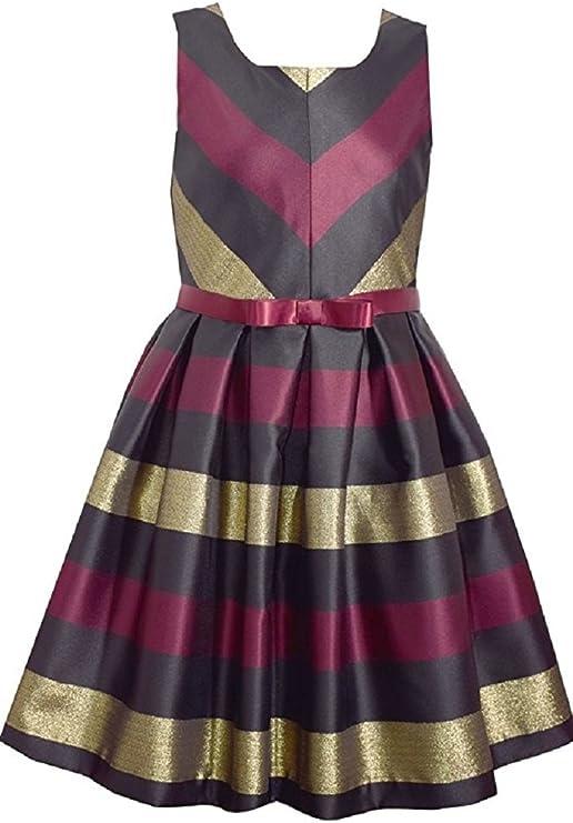 Burgundy, 12 Bonnie Jean Big Girls 7-16 Burgundy Sequin Taffeta High Low Holiday Party Dress