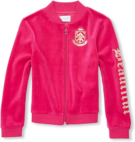 The Childrens Place Big Girls Velour Jackets