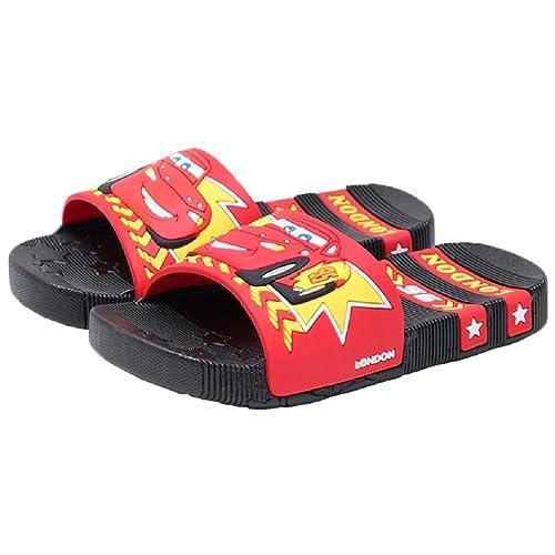 e995e18886ae8 Bakerdani Boys Girls Summer Cartoon Slippers Soft Bottom Anti-Slip Sandals