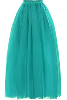Ladys Soft Tulle Skirts for Bridesmaid Prom Evening Party Long Slips Pettiskirt Maxi Underskirt 18 Colors
