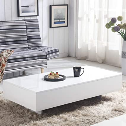 Modern Sofa Side Table Design.Goldfan White High Gloss Coffee Table Modern Design Rectangle Sofa Side End Tables For Living Room Office Furniture White