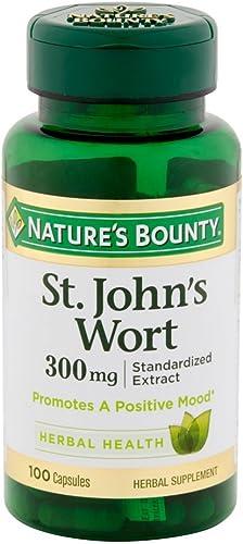 Nature's Bounty St. John's Wort Pills and Herbal Health Supplement