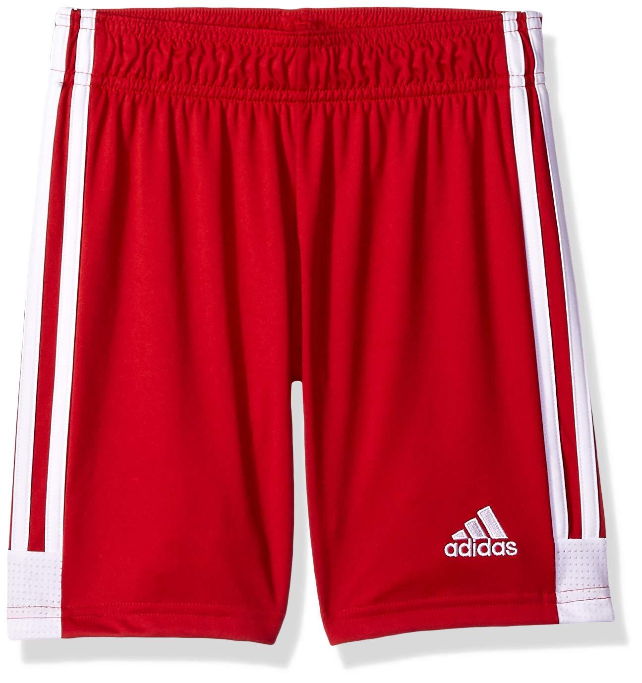 adidas Men's Tastigo 19 Shorts, Power Red/White, Youth Small by adidas