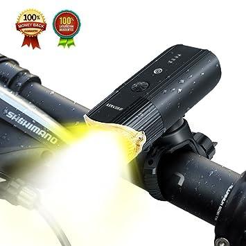 aff1b38b908 SHENKEY Bike Light Front USB Rechargeable Bicycle Light