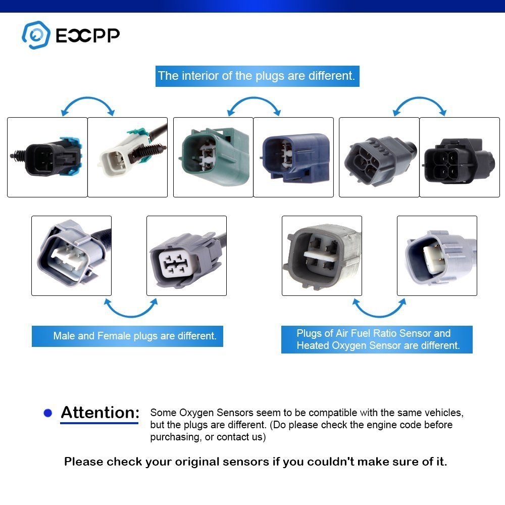 Air Fuel Ratio Sensor 2 Upstream and 2 Downstream Oxygen Sensor 234-9021 SG368 for 2006 Lexus GS300 3.0L
