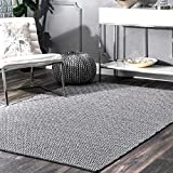 nuLOOM Hand Loomed Area Rug, 5' x 8', Black