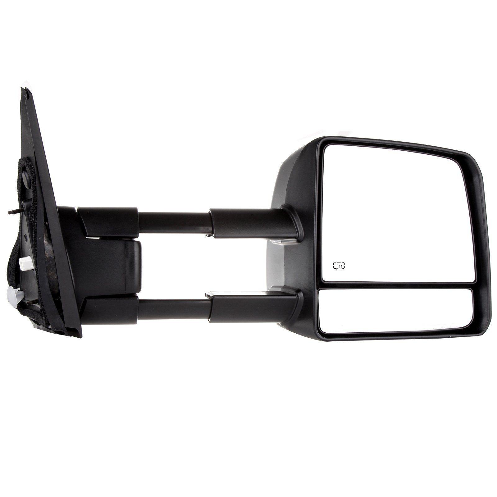 SCITOO fit Toyota Towing Mirrors Rear View Mirrors fit 2007-2016 Toyota Tundra Truck Larger Glass Power Control, Heated Turn Signal Manual Extending Folding (black) by SCITOO (Image #5)